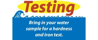 Bring in your water sample for a hardness and iron test.